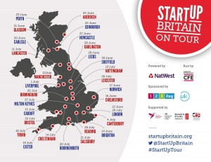 StartUp Tour map - for use in England and Wales - SMALL
