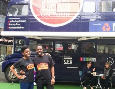 Chuku's visit the StartUp Britain bus